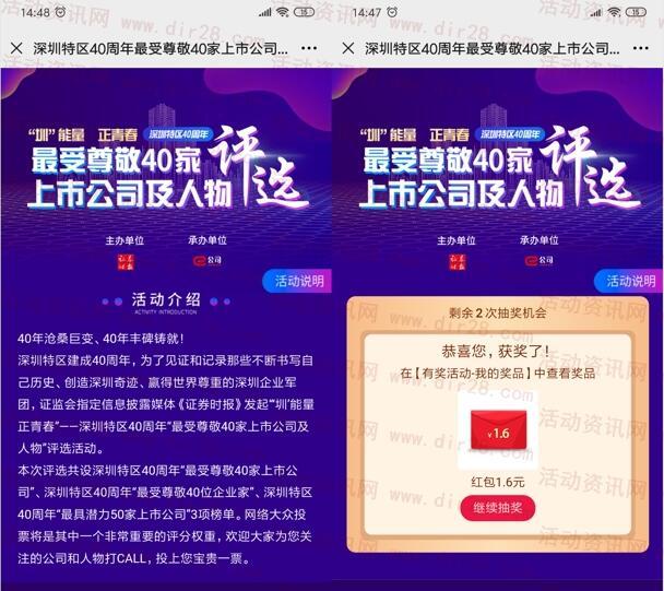 微信公众号投票抽现金红包,亲测1.6元  第2张